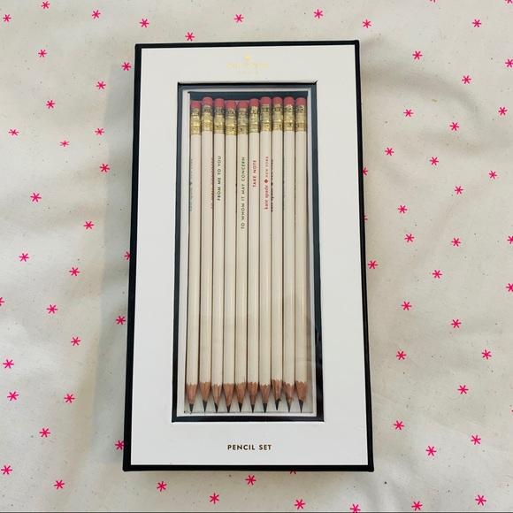 Kate Spade Pencil Set NWT